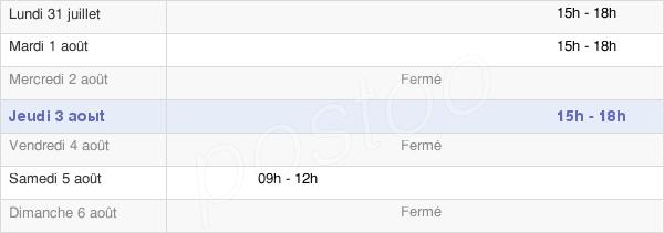 horaires d'ouverture de la Mairie D'Oulins