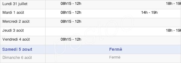 horaires d'ouverture de la Mairie Du Thieulin