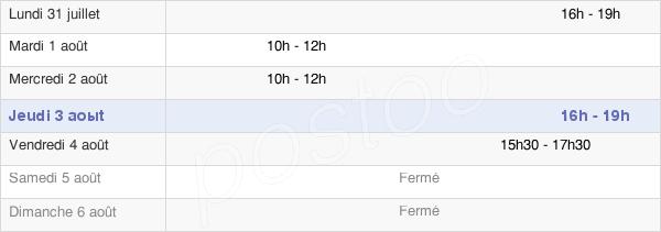 horaires d'ouverture de la Mairie De Chuisnes