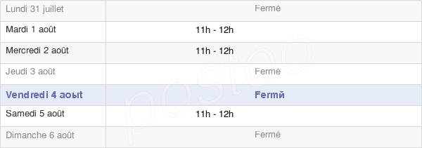 horaires d'ouverture de la Mairie De Poisvilliers