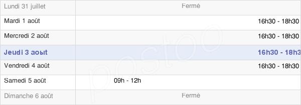 horaires d'ouverture de la Mairie De Mézières-En-Drouais