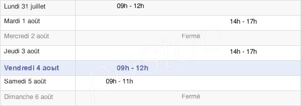 horaires d'ouverture de la Mairie De Saint-Lubin-De-La-Haye