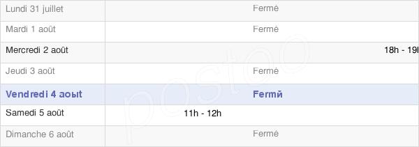 horaires d'ouverture de la Mairie De Saint-Christophe