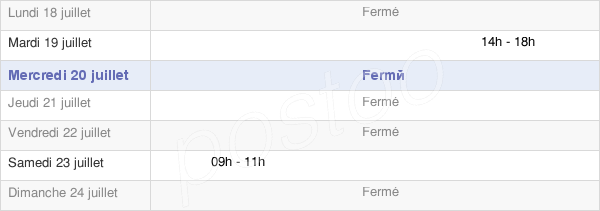 horaires d'ouverture de la Mairie De Boncourt