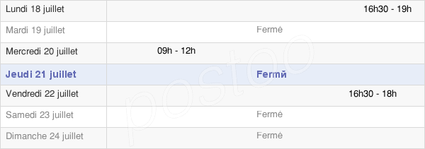 horaires d'ouverture de la Mairie Du Gué-De-Longroi