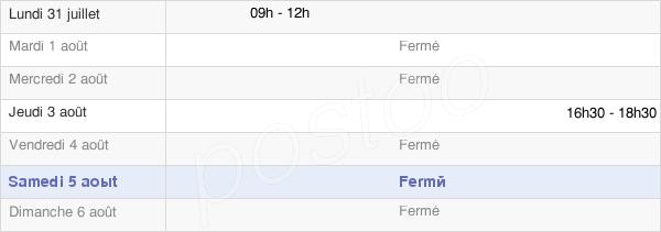horaires d'ouverture de la Mairie De Romilly-Sur-Aigre