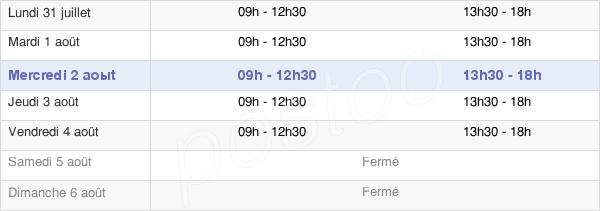 horaires d'ouverture de la Mairie De Béville-Le-Comte