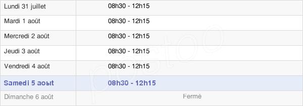 horaires d'ouverture de la Mairie De Tremblay-Les-Villages