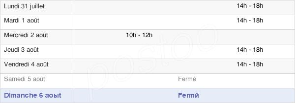 horaires d'ouverture de la Mairie De Gasville-Oisème