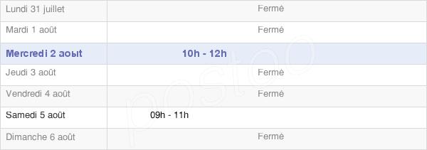 horaires d'ouverture de la Mairie De Bullou