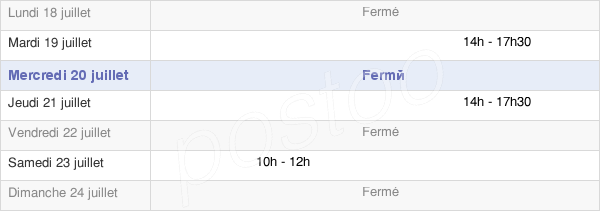 horaires d'ouverture de la Mairie De Rouvres