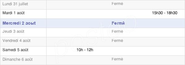 horaires d'ouverture de la Mairie De Saint-Laurent-La-Gâtine