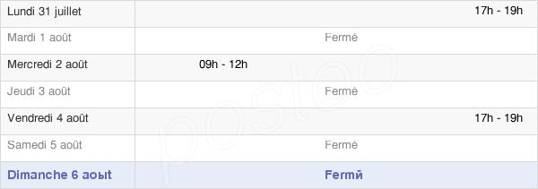 horaires d'ouverture de la Mairie De Souancé-Au-Perche