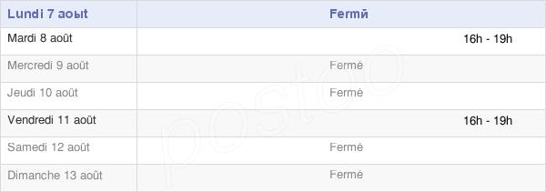 horaires d'ouverture de la Mairie De Vieuvicq