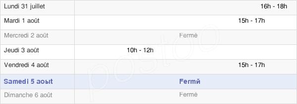 horaires d'ouverture de la Mairie De Saint-Jean-Pierre-Fixte