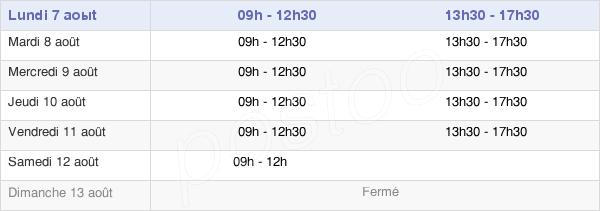 horaires d'ouverture de la Mairie De Vernouillet
