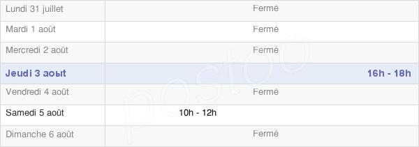 horaires d'ouverture de la Mairie De Mézières-Au-Perche