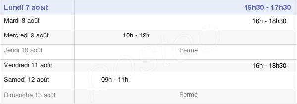horaires d'ouverture de la Mairie De Bleury - Saint-Symphorien