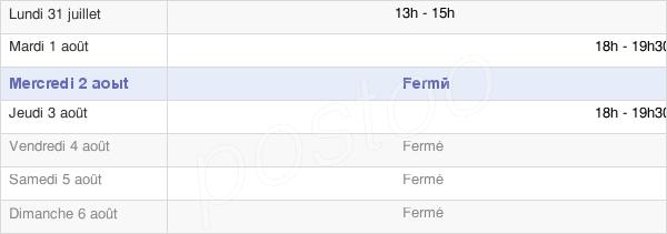 horaires d'ouverture de la Mairie De Houville-La-Branche