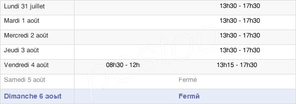 horaires d'ouverture de la Mairie De Marboué