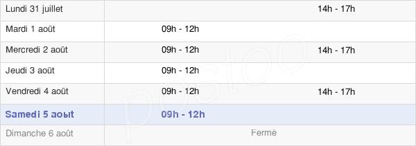 horaires d'ouverture de la Mairie D'Arrou