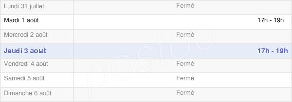 horaires d'ouverture de la Mairie De Friaize