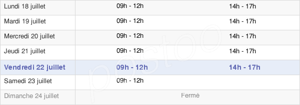 horaires d'ouverture de la Mairie D'Authon-Du-Perche