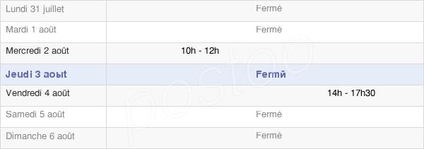 horaires d'ouverture de la Mairie De Frétigny