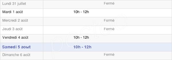 horaires d'ouverture de la Mairie De Miermaigne
