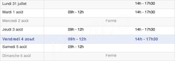 horaires d'ouverture de la Mairie D'Unverre