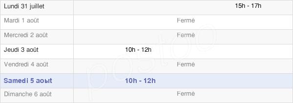 horaires d'ouverture de la Mairie D'Écluzelles