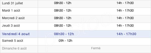 horaires d'ouverture de la Mairie D'Épernon