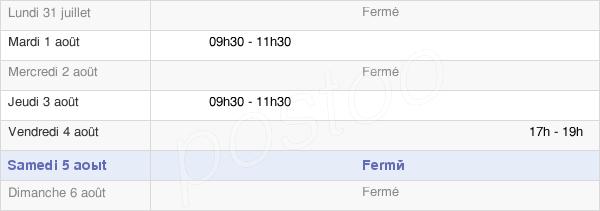 horaires d'ouverture de la Mairie Du Gault-Saint-Denis