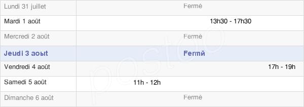horaires d'ouverture de la Mairie De Saumeray
