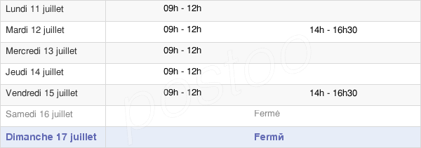 horaires d'ouverture de la Mairie De La Roquette-Sur-Var
