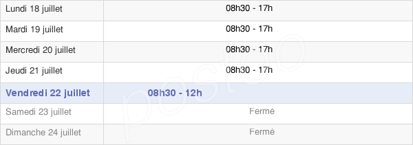 horaires d'ouverture de la Mairie De Gilette