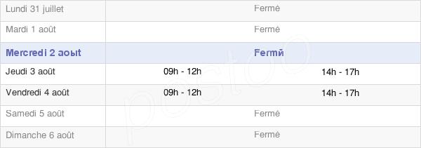 horaires d'ouverture de la Mairie De Berre-Les-Alpes