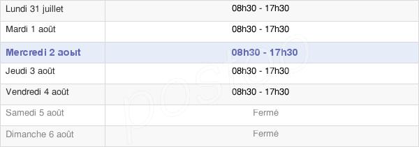 horaires d'ouverture de la Mairie De Beausoleil