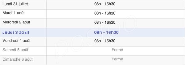 horaires d'ouverture de la Mairie De Mougins