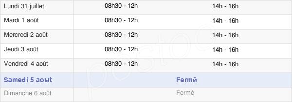 horaires d'ouverture de la Mairie De Puget Theniers