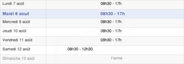 horaires d'ouverture de la Mairie De Nice