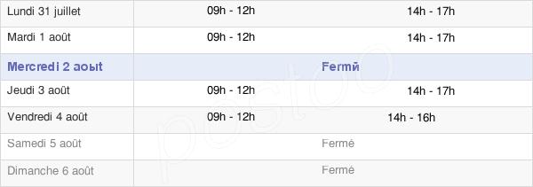 horaires d'ouverture de la Mairie De Coursegoules