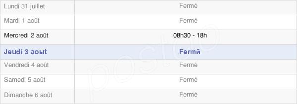 horaires d'ouverture de la Mairie De Mujouls (Les)
