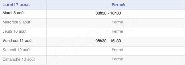 horaires d'ouverture de la Mairie De Gars
