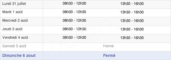 horaires d'ouverture de la Mairie De Beaulieu-Sur-Mer