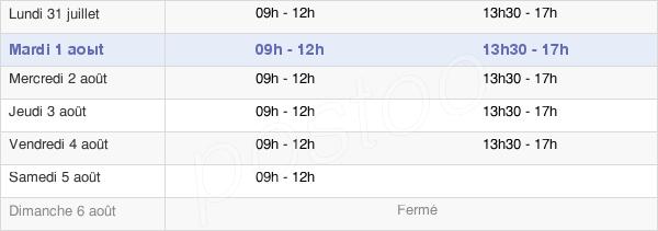 horaires d'ouverture de la Mairie De Saint-Brévin-Les-Pins