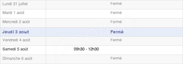 horaires d'ouverture de la Mairie De Chéméré