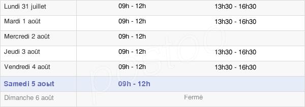 horaires d'ouverture de la Mairie De Ligné