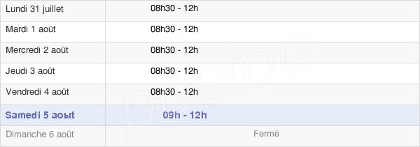 horaires d'ouverture de la Mairie De Saint-Viaud