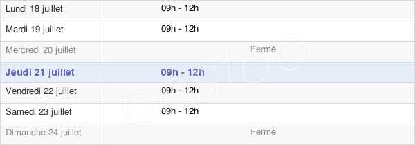 horaires d'ouverture de la Mairie Du Petit-Auverné
